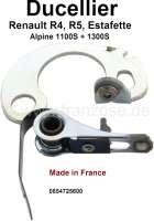 Ducellier, Kontakte. Passend für Renault R4, R5, Estafette, Gutbrod. Renault Alpine 1100S, 1300S. Made in France. - 82168 - Der Franzose