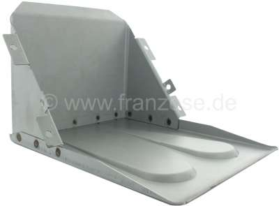 Citroen-2CV Battery box at the front wall, out of sheet metal. Suitable for Citroen 2CV.  For battery: