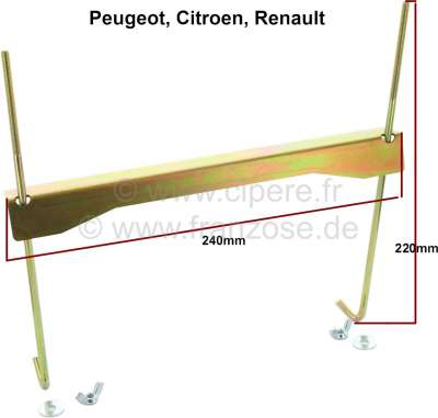 Renault Retaining brackets battery (universal), galvanized metal, typical for every french  car of