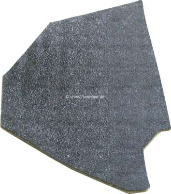Citroen-2CV Inside paneling side plate, in front on the right. Color black. Suitable for Citroen 2CV.