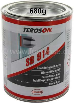Citroen-2CV Inside roof lining adhesive from Teroson. Contents: 680g. Light, transparent adhesive mate