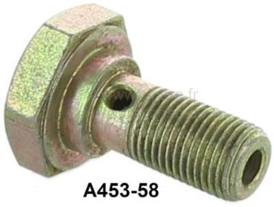 Citroen-2CV Brake line connector on the brake hose, rear on the right. Suitable for Citroen 2CV. Lengt