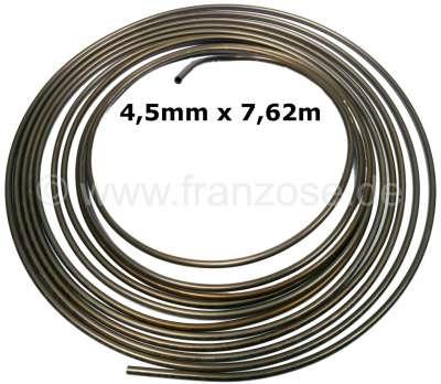 Citroen-2CV Brake + hydraulic line. Diameter: 4,5mm. Length: 7,62m. Material: Kunifer (copper - nickel