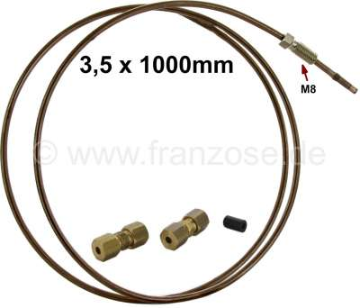 Citroen-2CV Brake + hydraulic pipe (3,5mm) emergency repair set. Consisting of: 1 meter of Kunifer (co