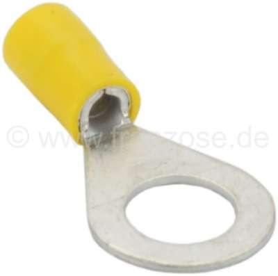 Citroen-2CV Eye ring yellow, 10mm attaching lug. Yellow = cable diameter: 3,6 to 6,8mm.