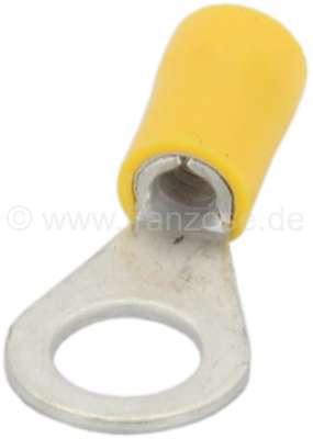 Citroen-2CV Eye ring yellow, 8mm attaching lug. Yellow = cable diameter: 3,6 to 6,8mm.