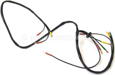 Citroen-2CV Cable harness in front in head light brackets, for Citroen 2CV to 06/65. With ground wire!