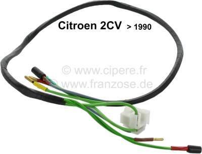 Citroen-2CV Cable harness in the headlight holder for Citroen 2CV6 (final version), per side. With all