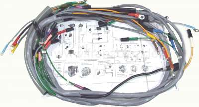 Citroen-2CV Main cable harness for Citroen 2CV. Installed from year of construction 09/1962 to 06/1965