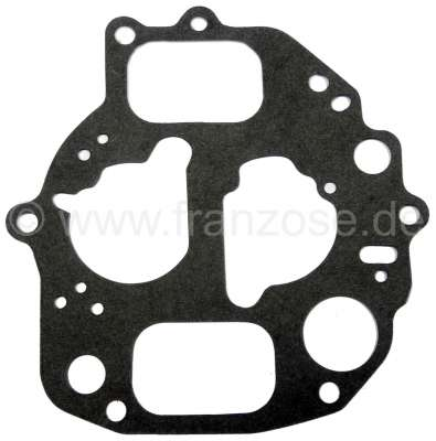 Citroen-2CV Carburettor cover gasket for 2CV6 with oval carburetor. Carburetor type Solex 26/35 SCIC.