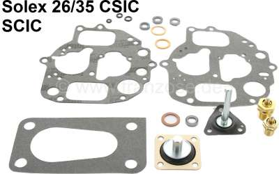 Citroen-2CV Carburetor repair set for Citroen 2CV6. Oval carburetor Solex 26/35 CSIC - SCiC. Inclusive