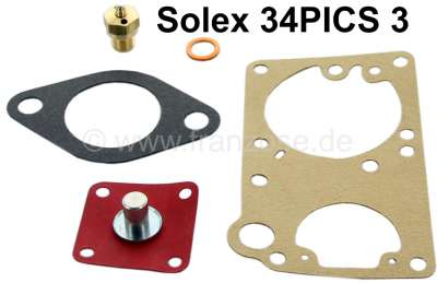Citroen-2CV Carburetor repair set for Citroen Ami 6, Dyane. Renault Dauphine, R4, R5, R6. Carburetor S