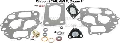 Citroen-2CV Carburetor repair set, for oval carburetor, for Citroen 2CV6, AMI8, Dyane 6. Carburetor So