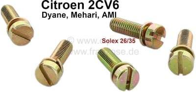Citroen-2CV Screws for the carburetor cap. Suitable for Citroen 2CV with oval carburetor. (6 fittings)