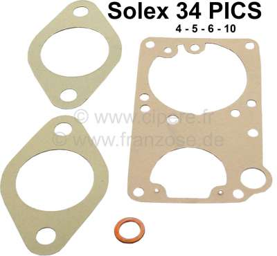 Citroen-2CV Carburetor sealing set for Citroen 2CV4 + 2CV6. Dyane 4 + Dyane 6, AZU250, AKS, Mehari. Ro