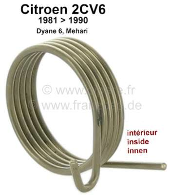 Citroen-2CV Throttle valve spring inside, for 2CV6 with oval carburetor. The throttle valve spring ext