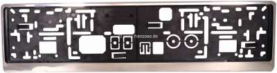 Peugeot Number plate holding plastic with stainless steel cover frame, suitable for every number p