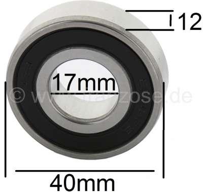 Citroen-2CV Centrifugal clutch bearing for 2CV6+4, measurement: 17x40x12mm, Inside diameter: 17mm, out