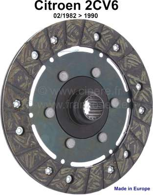 Citroen-2CV Clutch disk starting from 02/1982. Suitable for Citroen 2CV6.