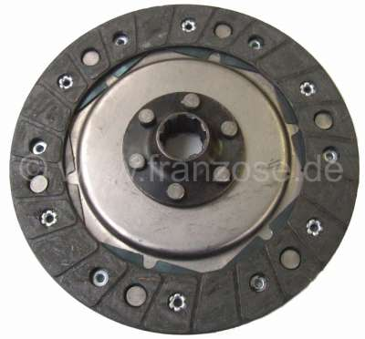 Citroen-2CV Clutch disk for 2CV, of year of construction 1952 to 1955. 8 teeth.