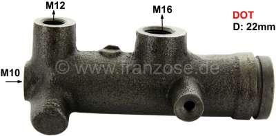 Citroen-2CV Master brake cylinder, brake system DOT. Single circuit brake system. Suitable for Citroen