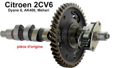 Citroen-2CV Camshaft completely with bearings. Suitable Citroen for 2CV6. Original Citroen.