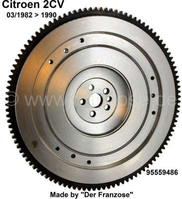 Citroen-2CV Fly wheel, new part. Suitable for Citroen 2CV 6, starting from year of construction 03/198