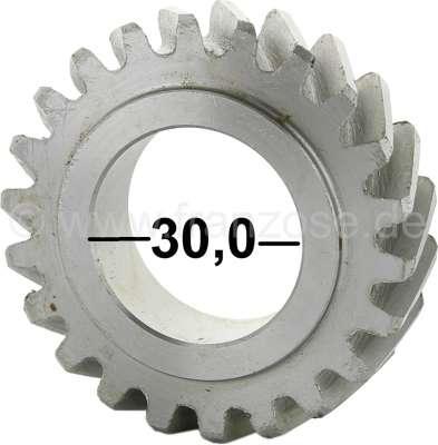 Citroen-2CV Crankshaft gear wheel narrowly, for Citroen AMI8 + 2CV6. 22 teeth. Gear-wide: 13,6mm. Wide