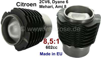 Citroen-2CV Piston + liner (2 pieces). Suitable for Citroen 2CV6/Club, Charleston, Special. Dyane 6, A