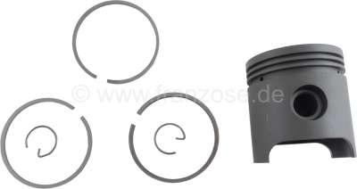 Citroen-2CV Piston with piston rings, suitable for Citroen 2CV old with 375ccm engine! (9 HP). 62mm bo