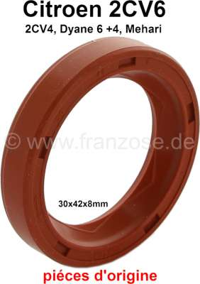 Citroen-2CV Shaft seal crankshaft in front, for Citroen 2CV (all engines). Improved version from silic