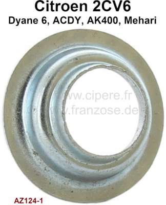 Citroen-2CV 2CV6, centering plate for the valve spring. Suitable for Citroen 2CV6.  Or.Nr.AZ1241