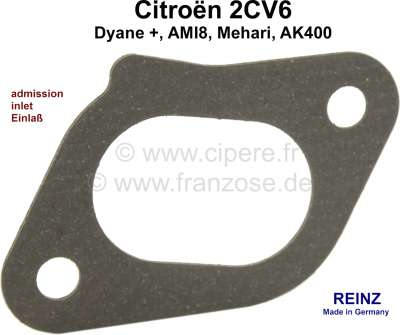 Citroen-2CV Elbow seal inlet 2CV6, improved version. The seal is made of most significant seal materia