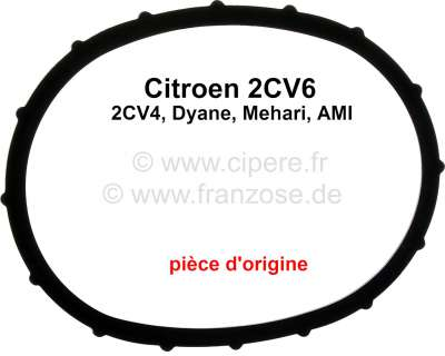 Citroen-2CV Valve cover gasket for Citoen 2CV6 + 2CV4. Material rubber. Manufacturer: Original GLASER.