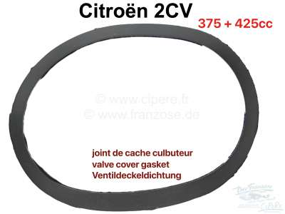 Citroen-2CV Valve cover gasket for Citroen 2CV old. Material rubber. For vehicles, which have the valv