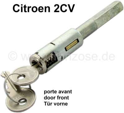 Citroen-2CV 2CV, Door lock, locking pivot long with lockcylinder + 2 keys.