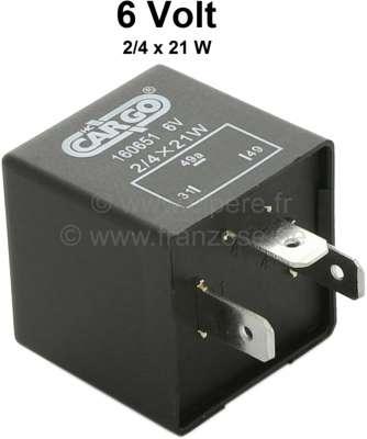 Citroen-2CV Flasher relay 6 Volt. For Citroen 2CV, DS, HY, Renault R4, Renault rear engines etc.