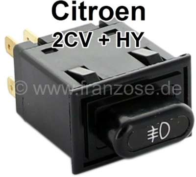 Citroen-2CV Fog tail light switch angularly, suitable for Citroen 2CV + HY. Original Installed in the