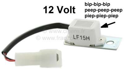 Citroen-2CV Light - buzzer. 12 V. Universal fitting. Simple installation.
