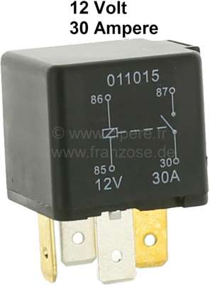 Citroen-2CV Operating circuit relay 12 Volt / 30 ampere of contact rating!