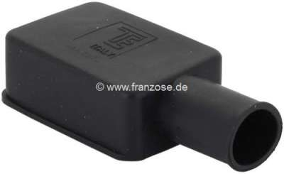 Citroen-2CV Battery pole protecting cap from rubber. Color: black. Length: 52mm. Width: 35mm. Short si