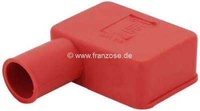 Citroen-2CV Battery pole protecting cap from rubber. Color: red. Length: 52mm. Width: 35mm. Long side