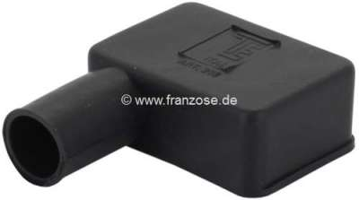 Citroen-2CV Battery pole protecting cap from rubber. Color: black. Length: 52mm. Wide one: 35mm. Long