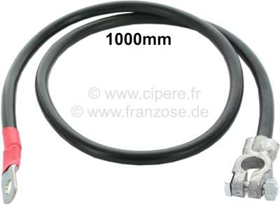 Citroen-2CV Positive cable (battery to starter motor). Overall length: 1000mm. Cable diameter: 25mm ².