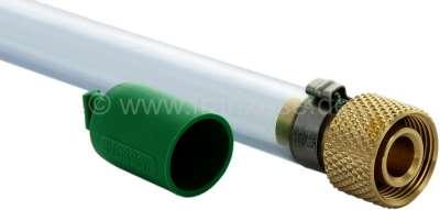 Citroen-2CV Hose (25cm) for the oil drain screw with valve (10636). Thread: M22 x 1,5.