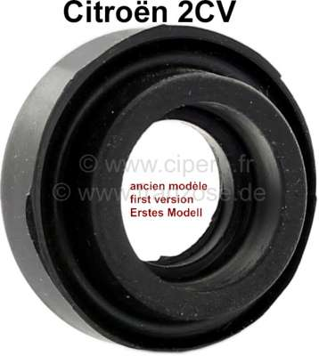 Citroen-2CV Valve push rod tube seal for 2CV (old version). Single seal, without bar in the center. Yo