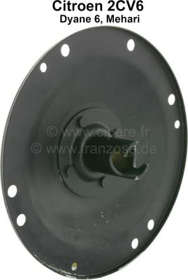 Citroen-2CV Belt pulley (fan blade + V-belts) for Citroen 2CV4+6. Original belt pulleys are not any lo