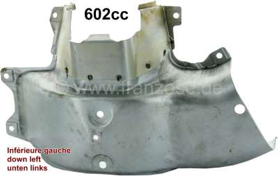 Citroen-2CV Engine cowling around the liner, down on the left (air circulation). Material sheet metal.