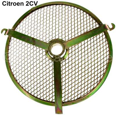 Citroen-2CV Grid for the engine fan case. Suitable for Citroen 2CV. Reproduction. The grid is galvaniz