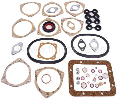 Citroen-2CV 2CV, 425ccm, engine gasket set inclusive shaft seals. Bore 66mm. Installed from year of co